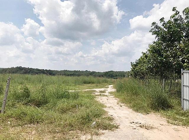 Khu đất trống mà Linh gọi là dự án Thành Phát City 1 để lừa đảo người dân.