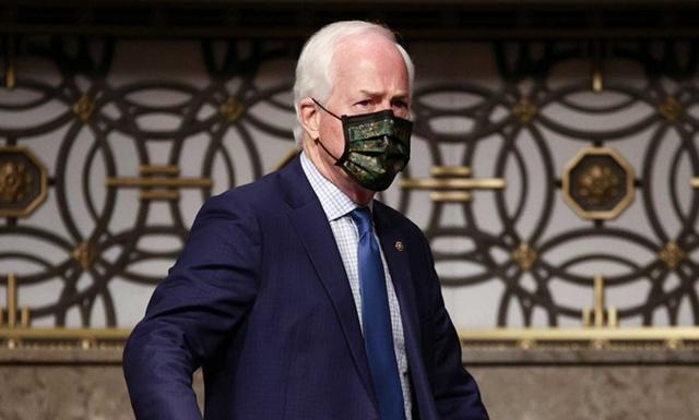 Nghị sĩ Cornyn trong một cuộc điều trần ở Thượng viện hồi tháng 11/2020. Ảnh: AFP.