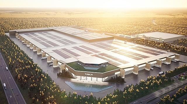 Quy mô nhà máy Gigafactory Berlin ở Đức của tập đoàn Tesla. Ảnh: Tesla.