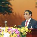 <p> Ông Phạm Minh Chính, Ủy viên Bộ Chính trị, Bí thư Trung ương Đảng, Trưởng ban Tổ chức Trung ương trình bày Báo cáo thẩm tra tư cách đại biểu dự Đại hội.</p>