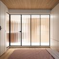<p> Phần tốt nhất của tổng thể và phòng ngủ là sử dụng kính mờ làm vách ngăn phòng. Hiệu ứng không gian mang lại tầm nhìn vô tận từ Đông sang Tây và giữ cho các thành viên trong gia đình luôn được kết nối.</p>
