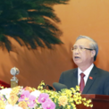 <p> Ủy viên Bộ Chính trị, Thường trực Ban Bí thư Trần Quốc Vượng phát biểu khai mạc phiên trù bị Đại hội.</p>