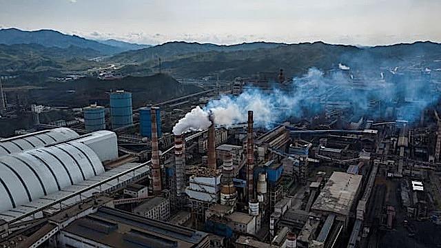 Nhà máy sản xuất thép.