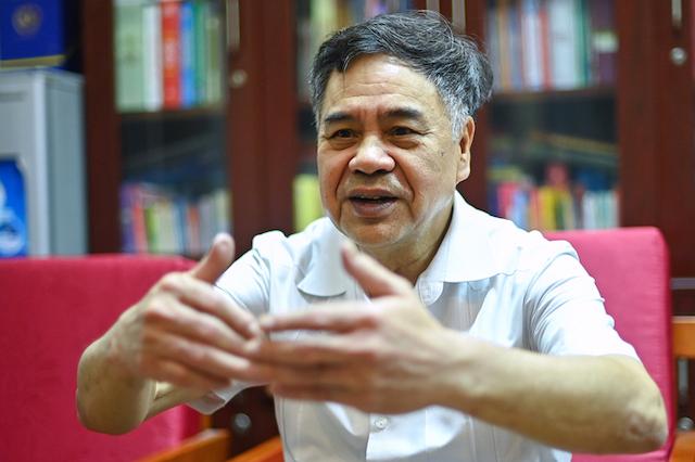 PGS.TS Nguyễn Viết Thông, Tổng thư ký Hội đồng Lý luận Trung ương. Ảnh: Giang Huy.