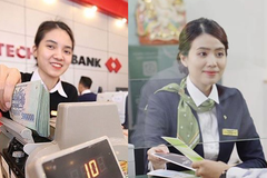 So găng thu nhập bình quân nhân viên Vietcombank và Techcombank