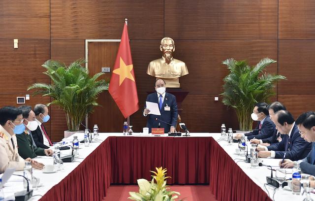 Cuộc họp khẩn về công tác phòng chống dịch Covid-19 vừa được Thủ tướng triệu tập. Ảnh: VGP