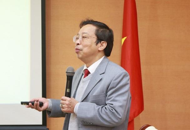 Ths. Phạm Xuân Hòe, Chủ nhiệm đề tài phát biểu tại hội thảo.