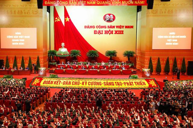 Đại hội đại biểu toàn quốc lần thứ XIII của Đảng. Ảnh: Tuổi Trẻ.