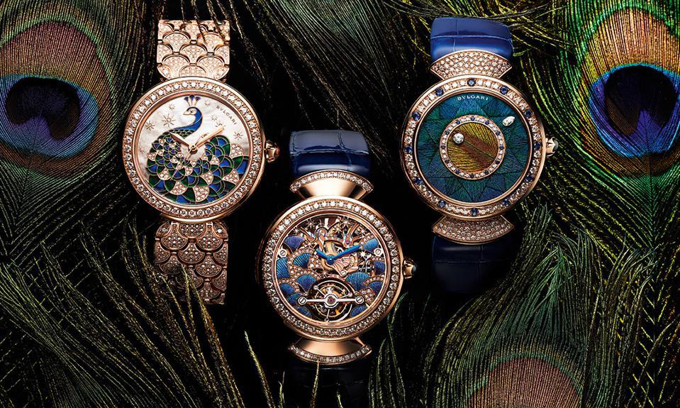 Bộ 3 đồng hồ khổng tước của Bvlgari