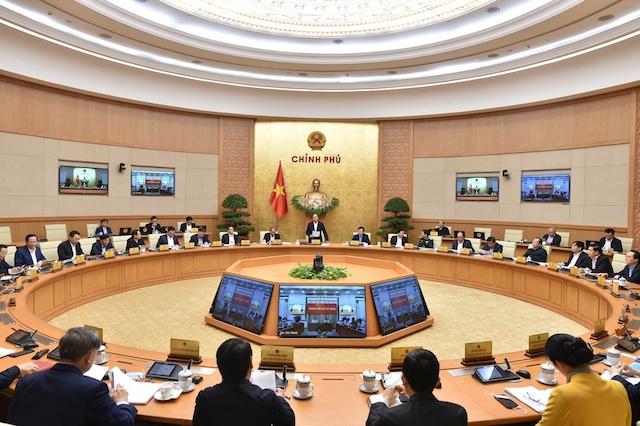Chính phủ họp thường kỳ tình hình kinh tế, xã hội đầu năm.