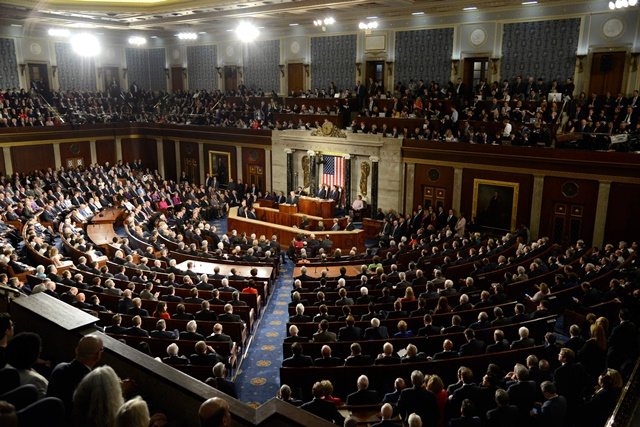 Toàn cảnh một phiên họp của Quốc hội Mỹ tại Washington, DC. (Nguồn: AFP/TTXVN)