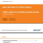 MASVN: Báo cáo kinh tế vĩ mô tháng 1 và triển vọng TTCK - Rung lắc ở vùng cao