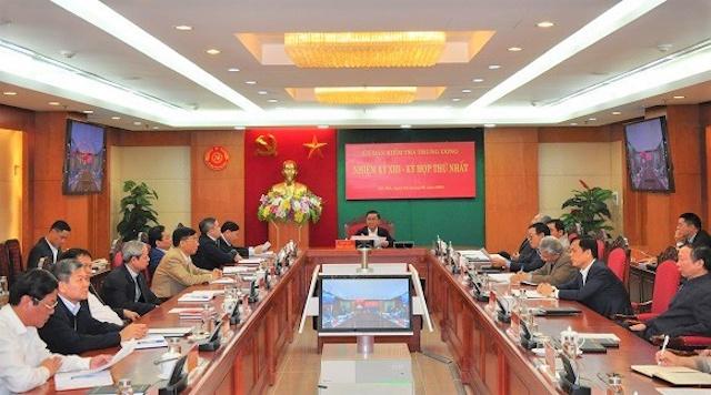 Kỳ họp thứ nhất của Ủy ban Kiểm tra Trung ương khóa XIII.