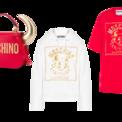 """<p class=""""Normal""""> <strong>Moschino</strong></p> <p class=""""Normal""""> Giám đốc sáng tạo của Moschino - Jeremy Scott đã cho ra mắt bộ sưu tập Tết Tân Sửu với phiên bản giới hạn gồm váy, áo thun, áo len, túi xách, khăn quàng, vỏ iPhone... Thiết kế chủ yếu có 2 màu trắng, đỏ được in hình trâu và chữ vàng nổi bật. (Ảnh: <em>Moschino</em>)</p>"""
