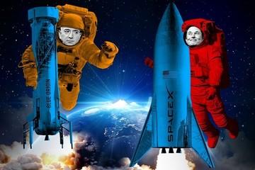 Cuộc đua vũ trụ giữa Jeff Bezos và Elon Musk ngày càng 'nóng'