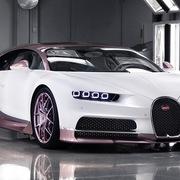 Chồng mua xe Bugatti trắng hồng tặng vợ dịp Valentine