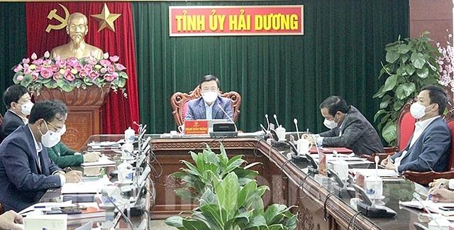 Bí thư Tỉnh ủy Phạm Xuân Thăng chủ trì hội nghị lần thứ 10 của Ban Thường vụ Tỉnh ủy Hải Dương.