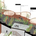 <p> Phối cảnh mái nhà với vườn rau, cây cảnh.</p>