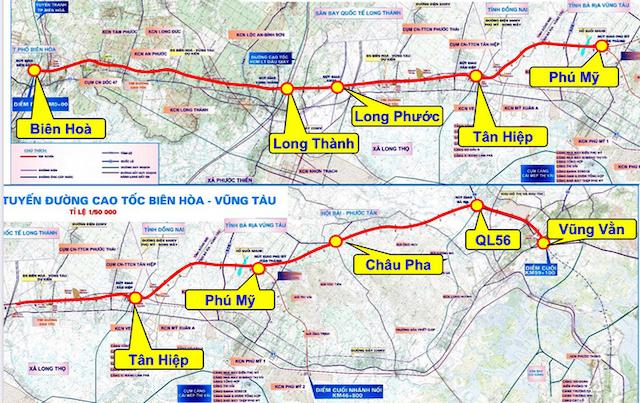 Đề xuất thẩm định dự án cao tốc Biên Hòa – Vũng Tàu trị giá 18.805 tỷ đồng.
