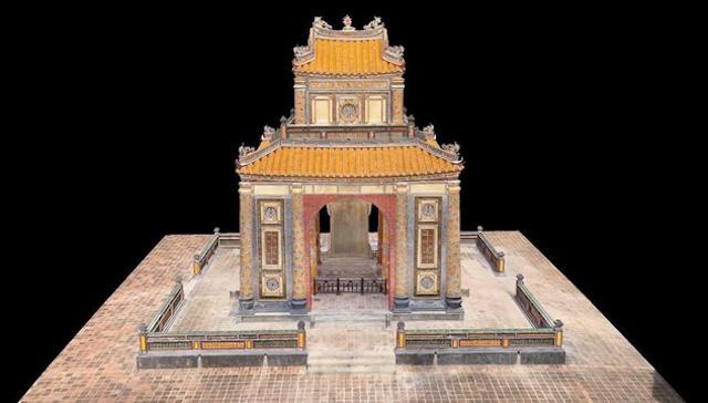 Hình ảnh Lăng Tự Đức được Google số hóa 3D.