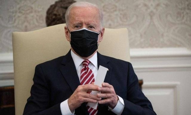 Tổng thống Mỹ Joe Biden tại Phòng Bầu dục, Nhà Trắng, hôm 17/2. Ảnh: AFP.