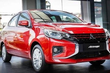 Mitsubishi Attrage phiên bản mới về Việt Nam, giá 485 triệu đồng