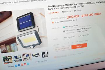 Cú lừa khi mua đèn năng lượng mặt trời giá siêu rẻ