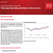 SSI Research: Triển vọng ngành thủy sản năm 2021 - Triển vọng tăng trưởng xuất khẩu ở cả tôm và cá tra