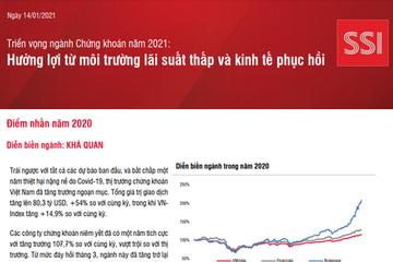 SSI Research: Triển vọng ngành chứng khoán năm 2021- hưởng lợi từ môi trường lãi suất thấp và kinh tế phục hồi