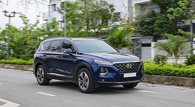 Hyundai Santa Fe hiện hành. Ảnh: Tuấn Cao