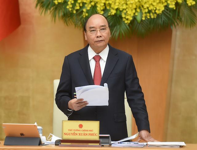 Thủ tướng Nguyễn Xuân Phúc chủ trì phiên họp Thường trực Chính phủ với Ban Chỉ đạo quốc gia phòng, chống dịch COVID-19.