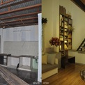 <p> Do ở một mình nên Dương Anh chọn thiết kế căn nhà theo kiểu studio, không gian mở và đồ nội thất đơn giản. Tầng trệt có chỗ để xe, bàn ghế sofa, bếp, toilet. Gác lửng có giường ngủ, tủ quần áo.</p>