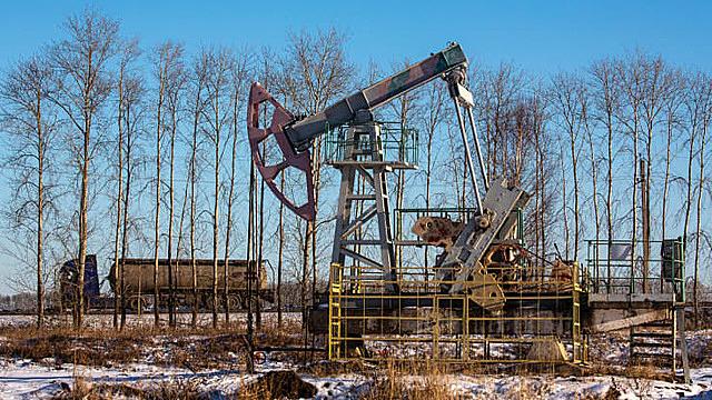 Một giàn khoan dầu ở Nga. Ảnh: Bloomberg.
