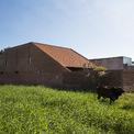 """<p> Ngôi nhà có những viên gạch được sắp xếp có chủ đích, tạo khoảng trống cho không khí xuyên qua và lấy sáng. Đó là lý do nó có thể """"tự thở"""" trong tiết trời nhiệt đới nắng nóng của Long An.</p>"""