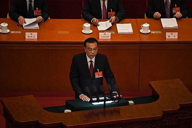 Thủ tướng Trung Quốc Lý Khắc Cường phát biểu tại đại hội ẢNH: AFP