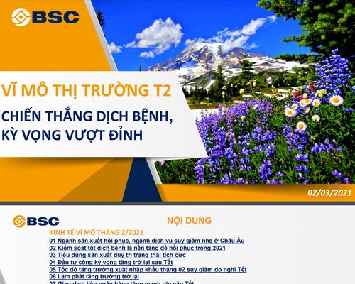 BSC: Báo cáo vĩ mô và thị trường tháng 2 - Chiến thắng dịch bệnh, kỳ vọng vượt đỉnh