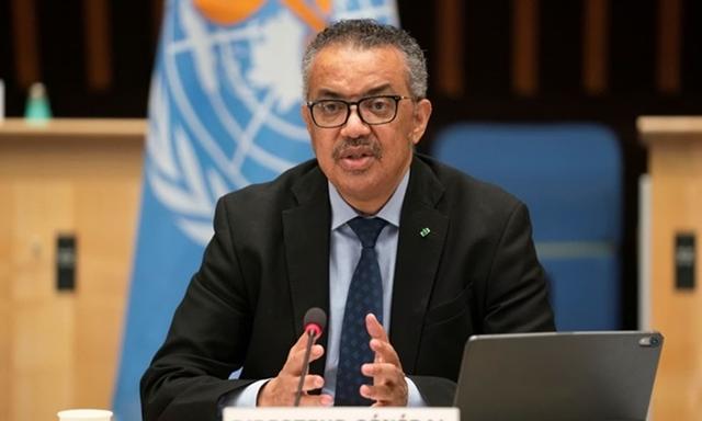 Tổng giám đốc WHO Tedros Adhanom Ghebreyesus tại cuộc họp về Covid-19 ở Thụy Sĩ hồi tháng 1. Ảnh: Reuters.