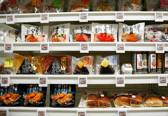 Food products are displayed at Lawson Open Innovation center during an event introducing its next-generation convenience store model in Tokyo, Japan December 4, 2017. REUTERS/Kim Kyung-Hoon/File Photo