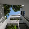 <p> Không gian xanh nhìn từ sân trong nhà.</p>