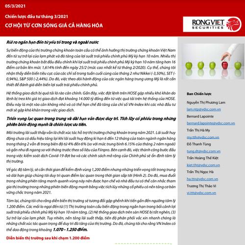 VDSC: Chiến lược đầu tư tháng 3 - Cơ hội từ cơn sóng giá cả hàng hóa