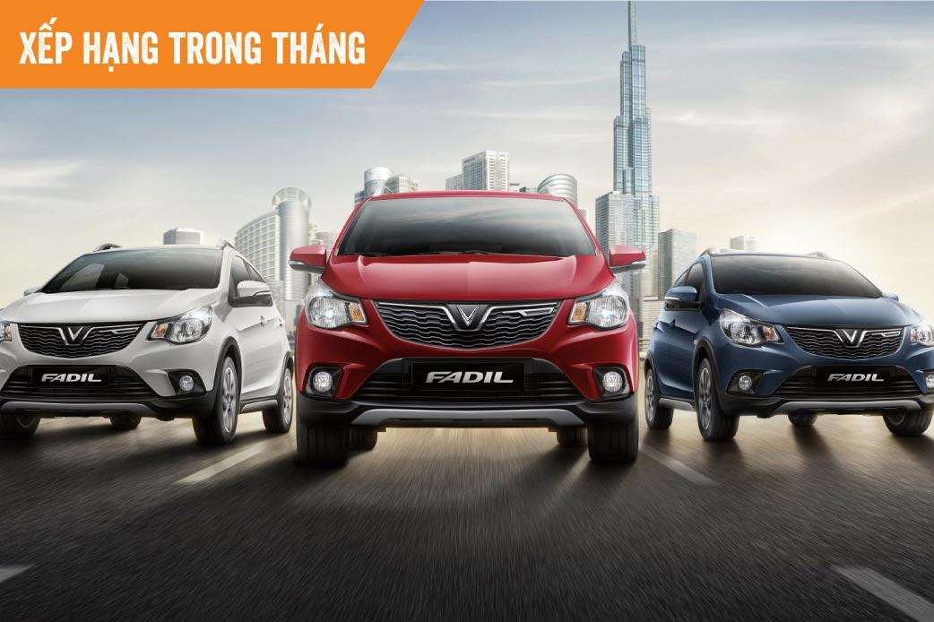 Top xe bán chạy tháng 2: VinFast Fadil lần đầu xếp vị trí số 1