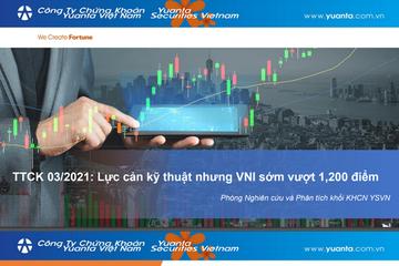 YSVN: TTCK tháng 3 - Lực cản kỹ thuật nhưng VN-Index sớm vượt 1.200 điểm