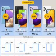 So sánh các smartphone Galaxy A 2021 bán tại Việt Nam