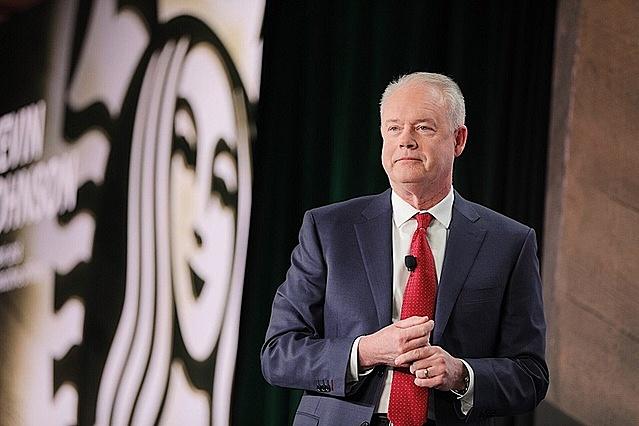 Ông Kevin Johnson, CEO của Starbucks. Ảnh: Reuters.