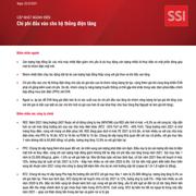 SSI Research: Cập nhật ngành điện - Chi phí đầu vào cho hệ thống điện tăng