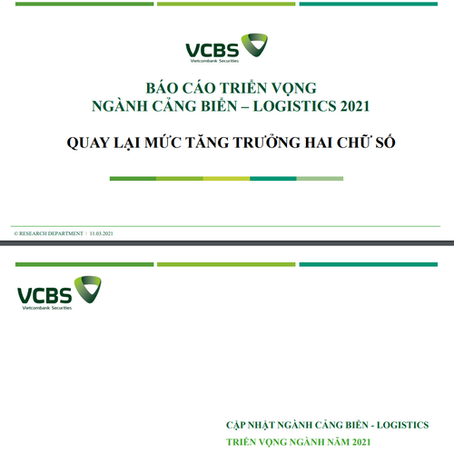 VCBS: Triển vọng ngành cảng biển, logistics 2021 - Quay lại mức tăng trưởng 2 chữ số