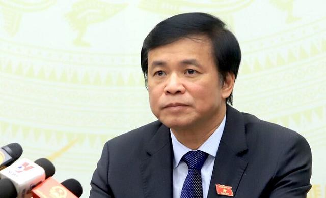 Ông Nguyễn Hạnh Phúc, Tổng thư ký, Chủ nhiệm Văn phòng Quốc hội tại họp báo sáng 23/3.