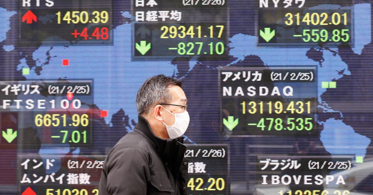 Chứng khoán châu Á giảm sâu, nhà đầu tư lo ngại đà phục hồi kinh tế thế giới