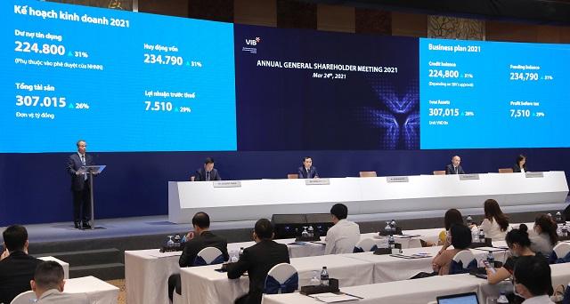 Họp ĐHĐCĐ VIB 2021: Thông qua đề xuất cổ phiếu thưởng 40%