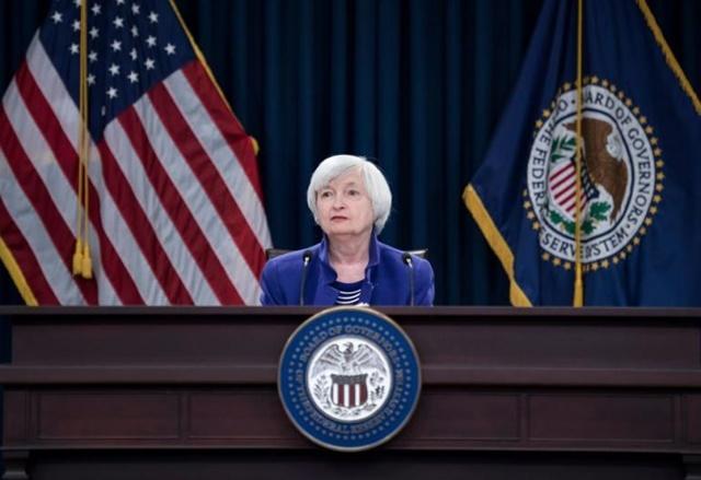 Bộ trưởng Tài chính Mỹ Janet Yellen phát biểu tại một cuộc họp báo ở Washington, DC, Mỹ. (Ảnh: AFP/TTXVN)